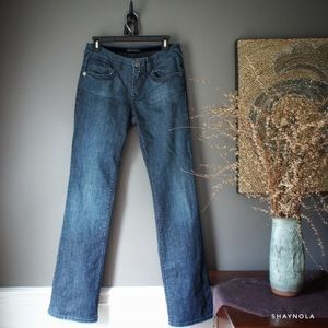 Elie Tahari Dark Wash Straight Leg Jeans
