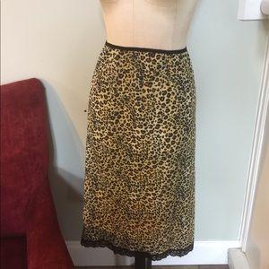 Vintage Leopard Slip Skirt