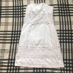 Lilly Pulitzer embroidery strapless dress size 00