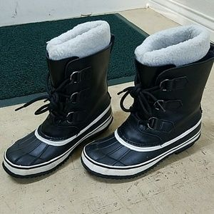 Other - Kids Winter snow boots,  black/white,  fur