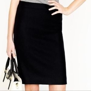 J. Crew No. 2 Pencil Wool Skirt Size 2