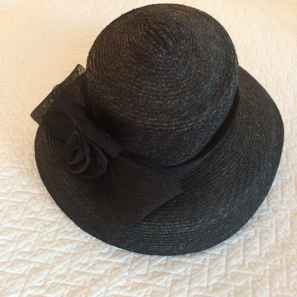 3894bd2cd97 Giovannio Accessories - Breakfast at Tiffany s Style Black Straw Hat