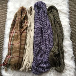 NWT BUNDLE 4 SCARVES INFINITY WINTER ACCESSORIES