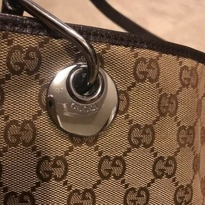 Gucci Bags - Gucci GG Canvas and Leather Bucket Bag -Authentic