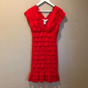Max Studio Cherry Red Cocktail Dress