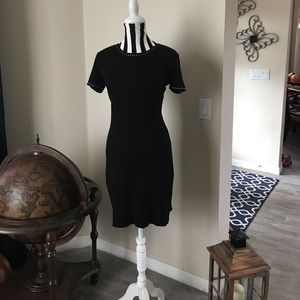 Saint Tropez West Black & White Sweater Dress