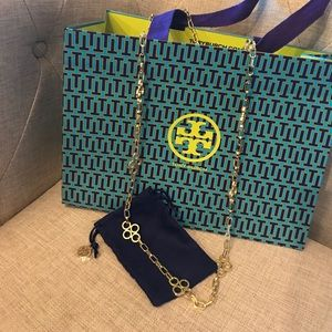 Tory Burch Large Clover Necklace NWT