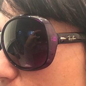 Purple rayban sunglasses