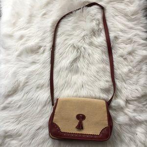 Etienne Aigner Crossbody Woven Leather handbag