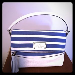 Kate spade ♠️ New York white and blue stripes bag