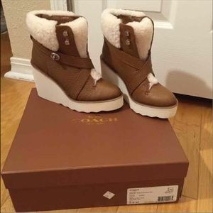 Coach Kenna leather and shearling