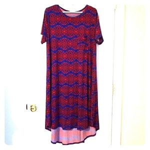 LuLaRoe Carly Dress size XL