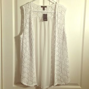 White Torrid vest size 2