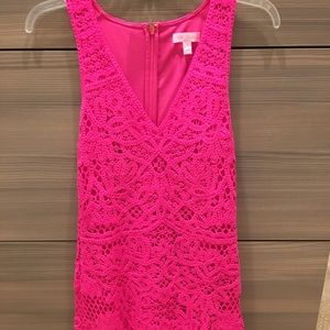 Lilly dress small perfect condition hot pink lace