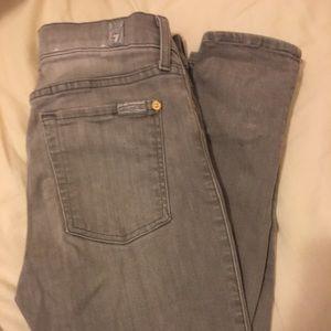 7 Jeans Graywash Skinny Jeans