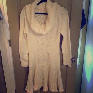 NWOT Victoria's Secret cream sweater dress.
