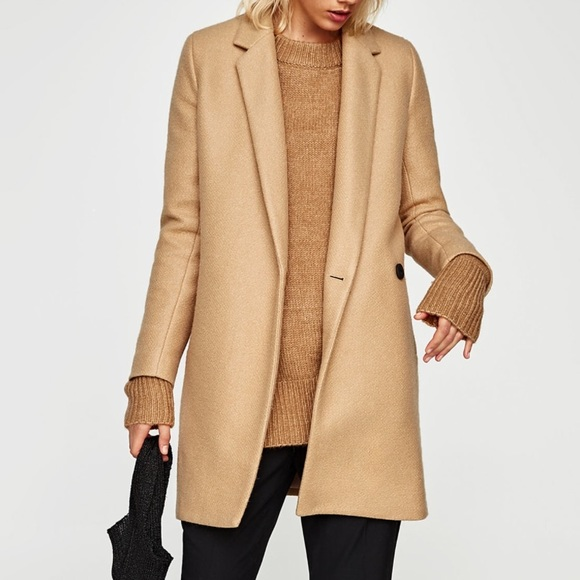 wholesale sales good reputation authentic quality NBW ZARA SOFT-FEEL DOUBLE-BREASTED COAT (S)