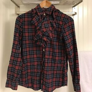 Banana Republic plaid top in good used condition