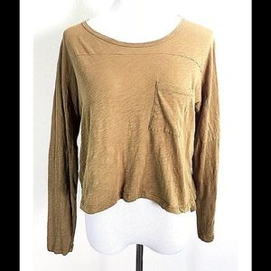 Madewell Effortless Tee Shirt Top Olive Green Sz S