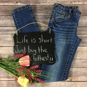 Rue 21 medium wash skinny jeans