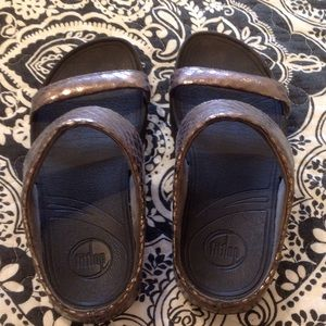 FitFlops Faux Snake Slides