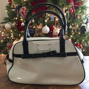 Kate Spade White Patent Leather Doctor Bag