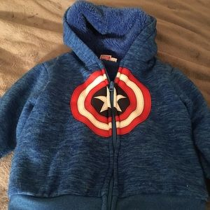 Other - Toddler fuzzy inside hoodie