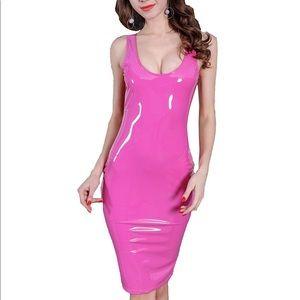 Dresses & Skirts - Bubble gum pink latex dress