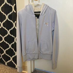 VS PINK faux fur lined zip up hoodie