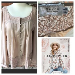 Perch by Blu Pepper plus sized bohemian blouse