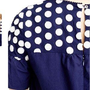 J. Crew Dresses - J. Crew Bell Sleeve Fringe Dot Dress