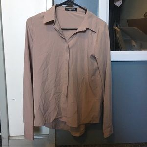 Nude button up blouse