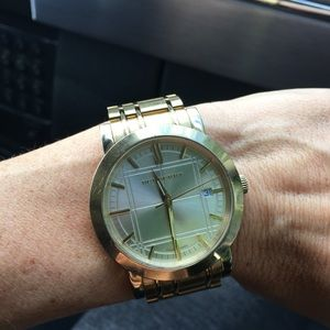 Swiss Gold Ion-Plated stainless steel watch