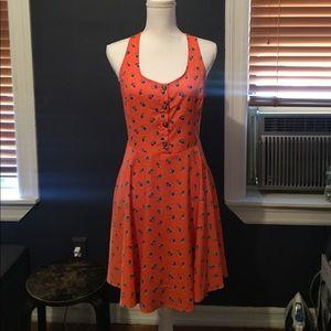 NWT Lush Clothing summer dress in orange