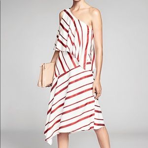 Banana Republic Dresses - Banana Republic Stripe Layered One Shoulder Dress
