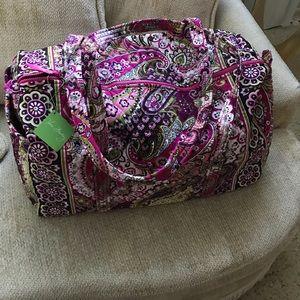 Vera Bradley Large Duffel Bag Very Berry Paisley