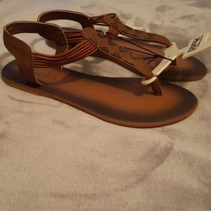 61af4066069b Mudd Shoes - NWT brown-toned Mudd sandals w  metal accents