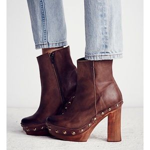 Free People Leather Clog Bootie