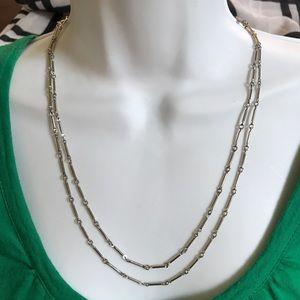 Vintage Long Bar Links Necklace