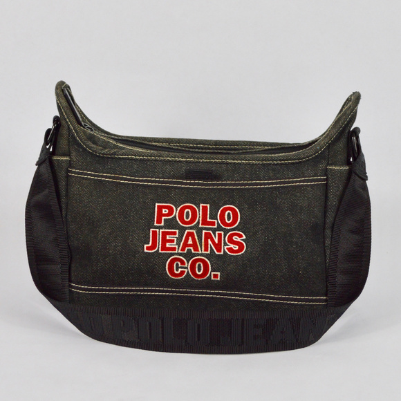 da1a9e23042e  POLO JEANS  Vintage 90s Dark Blue Denim Purse. M 59e61173981829446a03b264