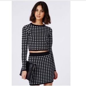 NWT Missguided 2 Piece Cropped Sweater Mini Set 4