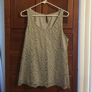Ann Taylor Loft lace top with silver accents
