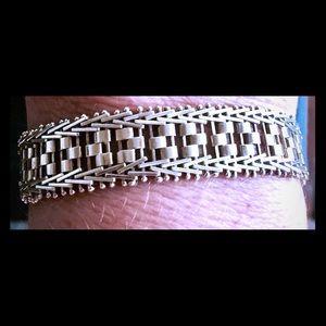 Vtg Milor Italy Byzantine Sterling Silver Bracelet