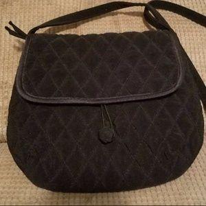 Vera Bradley Small Black Shoulder Bag Like New