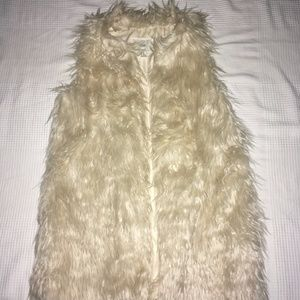 Polar Bear faux fur Vest