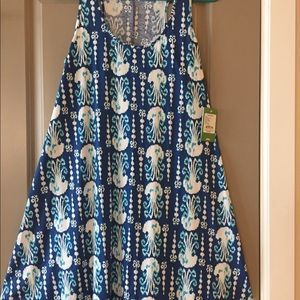 Lilly Pulitzer Melle dress. Get in Line print
