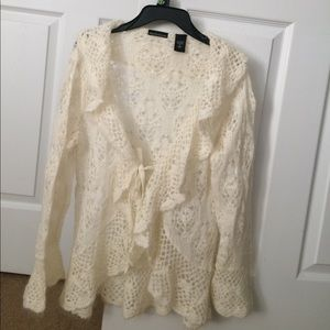 Crochet Tie Front Sweater Victoria's Secret