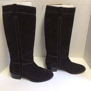 Michael Kors brown suede tall boots