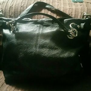 AUTHENTIC COACH BLACK PEBBLE LEATHER BAG HIPPIE