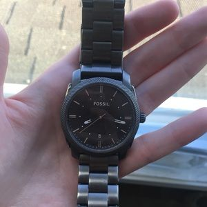 Dark grey fossil watch